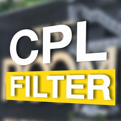 ฟ้าสวยตัดสะท้อนด้วย CPL  Filter