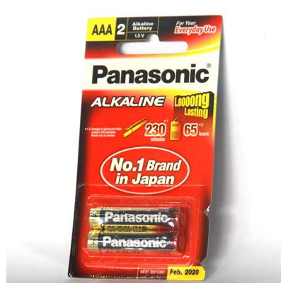 Battery Panasonic Alkaline AAA (Pack x 2)